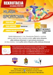 Klasa Sportowa 2018 plakat